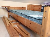 Pine Cabin bed. Currently used as a full size single bed
