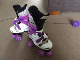 Girls Osprey adjustable roller boots size 13 to 3 (32-36)