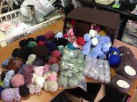 Knitting Wool / Yarn Oddments Job Lot Different Colours