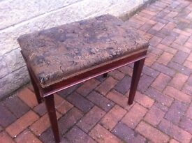 Antique dressing table stool/piano stool