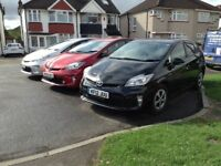 Pco registered toyota Prius for rent from £99 a week