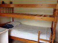 Child's Pine bunkbed .