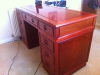 Oriental Rosewood Desk with Matching Chair & Bookcase!!