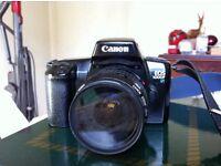 Canon EOS 1000 SLR film camera.