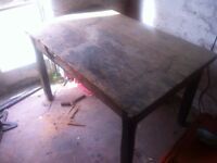 Vintage Rustic Woodworking Table