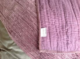 John Lewis throw / blanket approx 200x140 cm purple £5