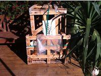 Wooden pallet boxes x2
