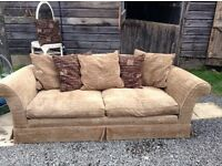 Very comfy large three seater in close crop chenille, sofa from The Sofa Workshop. V.g.c