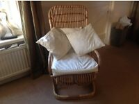 Comfortable bamboo chair. Excellent condition.