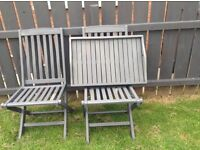 Garden chairs and tray