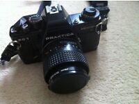 Praktica film SLR camera and accessories