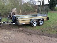 Indespension 10x5 trailer with drop down ramp