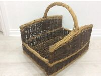 Vintage LOG BASKET - Excellent Condition - used to store magazines