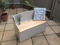 Lovely Solid Pine Bench/Toy Box /Ottoman