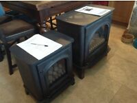 Gazco Stockton LPG coal effect gas stoves never used, one medium and one small