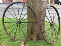 Vintage Cast Iron Wheels