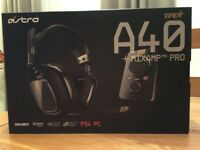 Astro A40 TR Headset + Mixamp pro for PS4 , PC.