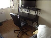 IKEA Desk, chair and shelf