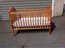 Mamas and Papas Donatella cot/bed including mattress.