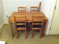 Pine IKEA table & chairs