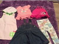 Sets of girls clothes and shoes