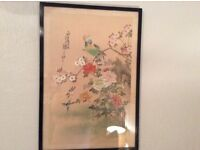 Vintage silk picture chinese