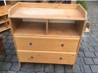 Set of IKEA nursery drawers with changing top