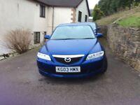 Mazda 6 sport , 2 litre diesel in blue.2003.