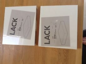 LACK Shelving x 2 (new in Packet)