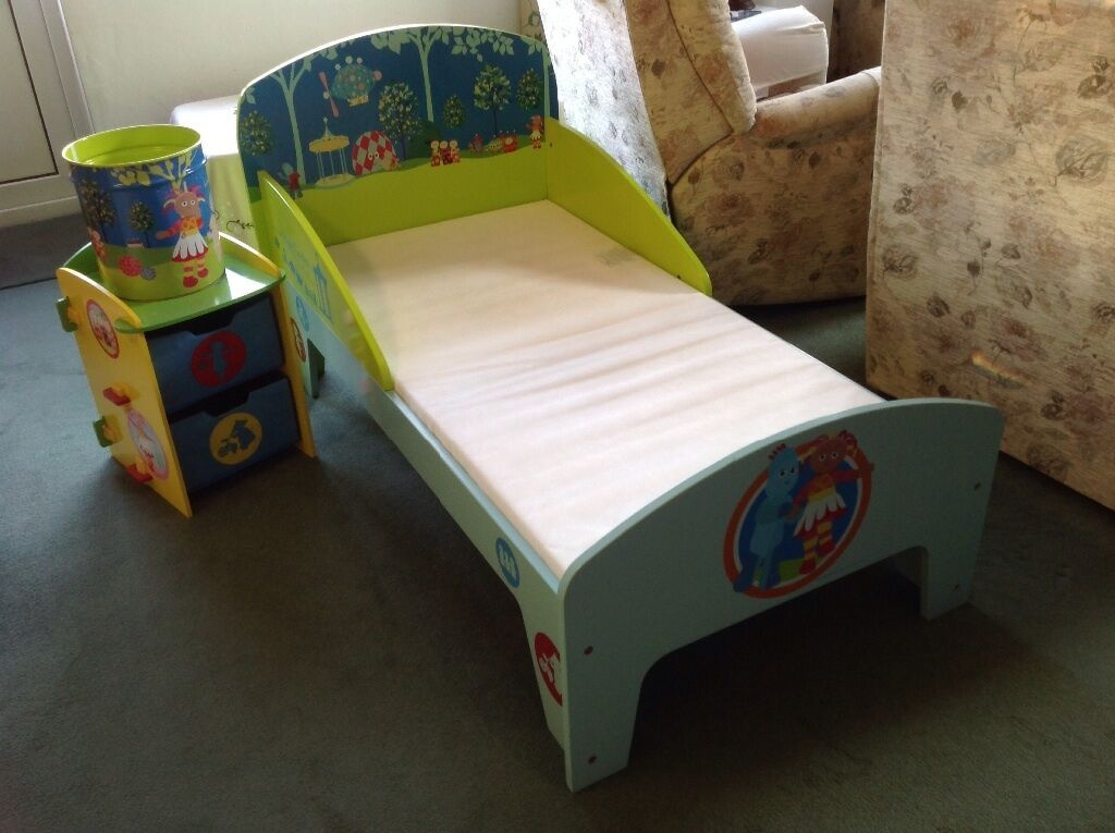 In The Night Garden Furniture In the night garden toddler bed mattress and bedside table in in the night garden toddler bed mattress and bedside table workwithnaturefo