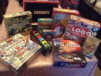 Collection of board games.