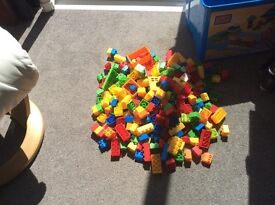Mega Blocs - Large Tub - Over 300 pieces - Only £10