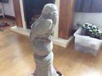 Concrete garden bird of prey ornament
