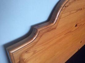 King sized solid wood headboard