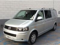VOLKSWAGEN TRANSPORTER T5 T30 2.5TDI 130BHP LWB 6 SPEED MAUAL METALLIC SILVER ONLY 63,000 MILES