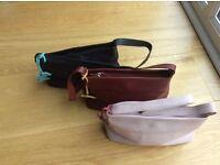 Radley leather handbags , pink, black, tan colour