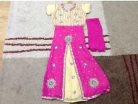 Girls Indian Lengha's/ trouser suits different sizes bundles