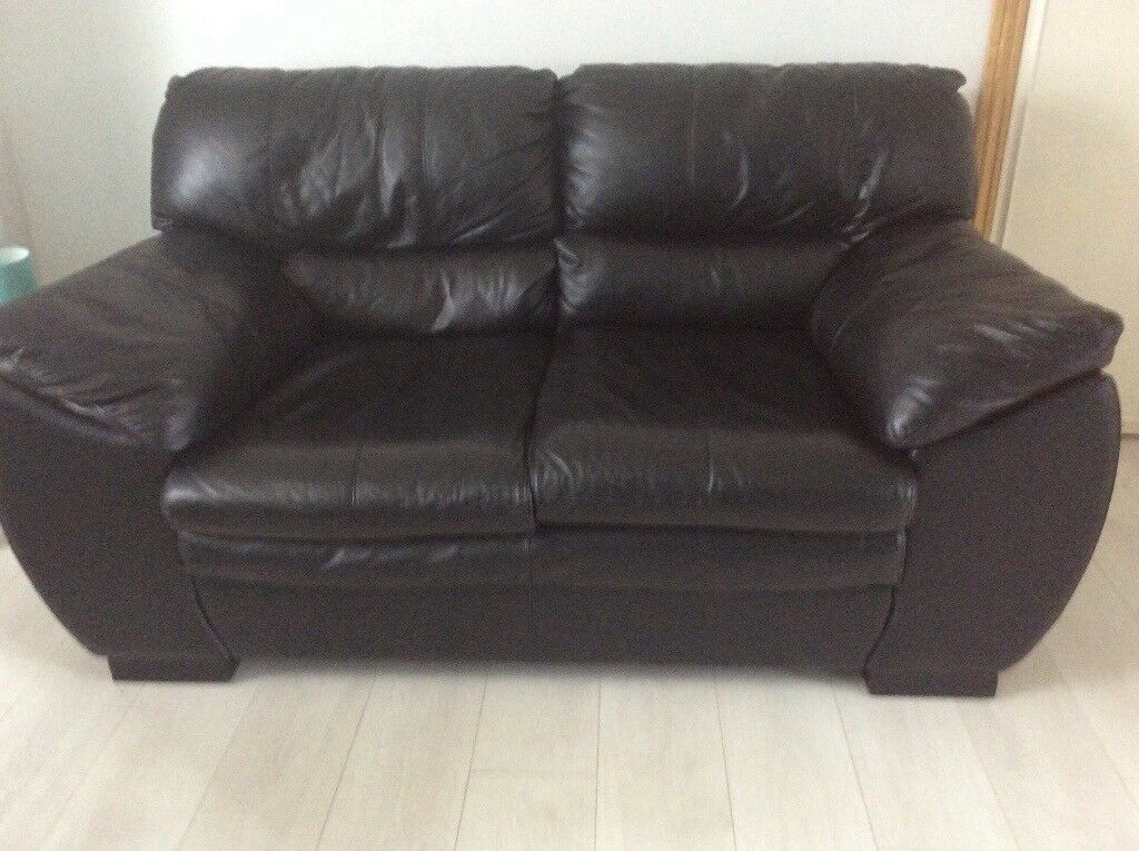 2x2 seater black leather sofas for NEW REDUCED PRICE