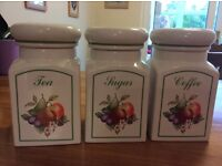 Set of Storage Jars in excellent condition