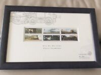 Limited Edition framed Classic Locomotive Stamps