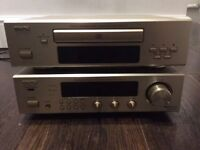 Denon CD player, stereo and speakers