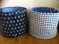 2 Jojo Maman Bebe large canvas storage buckets