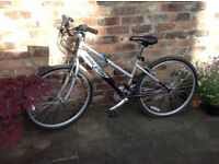 Ladies / Older Girls' Raleigh Mountain Bike with Shimano Gears and 26 inch wheels