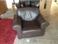 Free ikea brown leather armchair