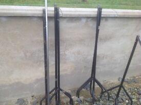 6 ft metal clothes rails