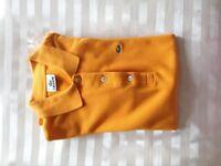 Lacoste orange polo shirt for women size 38 (10 UK)