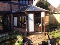 Conservatory wooden top and roof