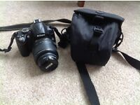 Nikon D3000 Digital SLR Camara, 18-55ml lens, charger and case. Good condition. With 4gb SD card.