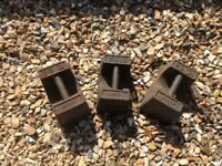 Vintage Avery 28lb cast iron weights