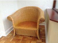 Basket chair.